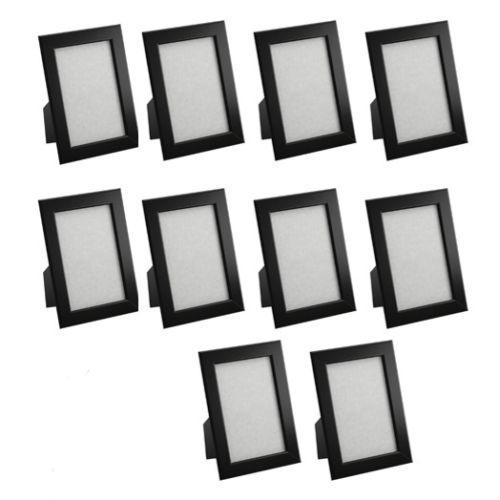 10 st ck fiskbo ikea bilder foto rahmen schwarz 10x15. Black Bedroom Furniture Sets. Home Design Ideas