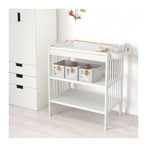 gulliver ikea wickeltisch wei baby kinder holz auflage. Black Bedroom Furniture Sets. Home Design Ideas