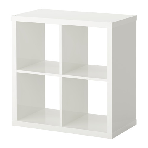 kallax 77x77 wei hochglanz ikea regal wohnen raumteiler expedit neu ovp ebay. Black Bedroom Furniture Sets. Home Design Ideas