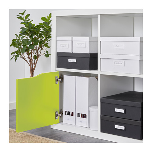 kallax ikea einsatz mit t r gr n ohne griff 33x33 regal t re expedit ovp neu ebay. Black Bedroom Furniture Sets. Home Design Ideas