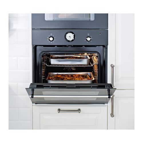 koncis ikea ofenform mit rost edelstahl 40x32 backofen br ter grill zubeh r neu ebay. Black Bedroom Furniture Sets. Home Design Ideas