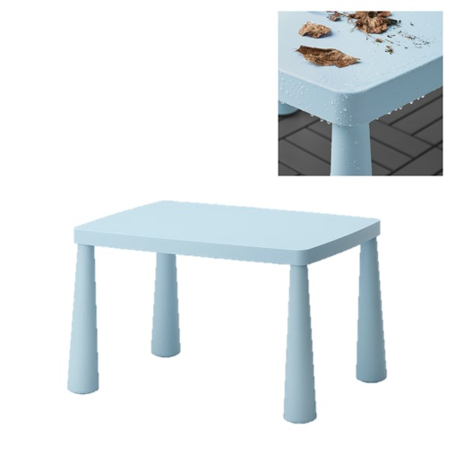 mammut ikea kinder tisch stuhl set hell blau drinnen drau en sitz m bel garten ebay. Black Bedroom Furniture Sets. Home Design Ideas