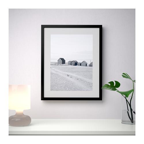 Ribba ikea bilder rahmen schwarz 40x50 dekoration foto for Ikea ribba plank