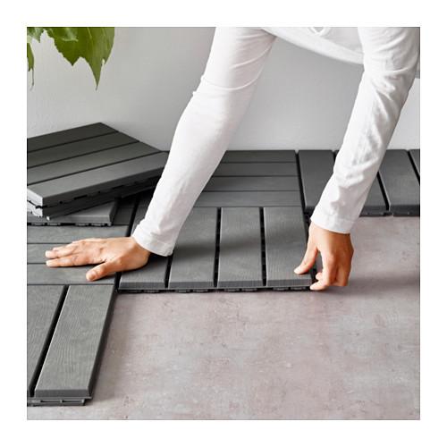 runnen ikea bodenrost belag grau 30x30 9er pack balkon. Black Bedroom Furniture Sets. Home Design Ideas