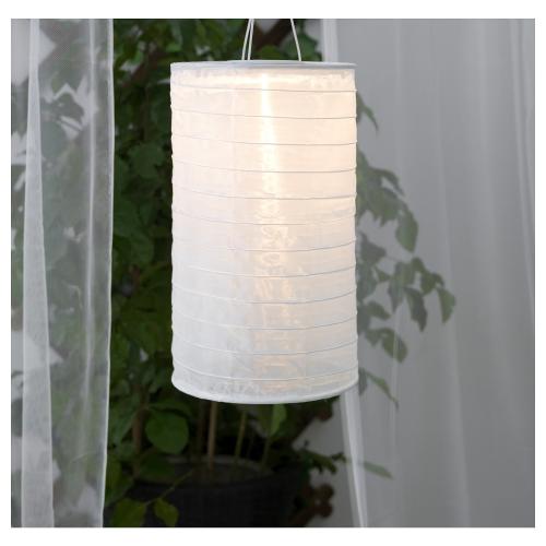 solvinden ikea solarh ngeleuchte led wei 23cm garten solar lampe lampion neu ebay. Black Bedroom Furniture Sets. Home Design Ideas