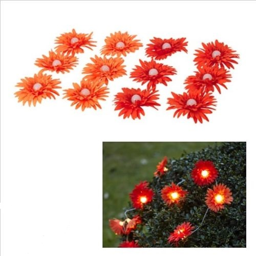 solvinden deko lampions f r lichterkette ikea led blume rot 12x garten solar ebay. Black Bedroom Furniture Sets. Home Design Ideas