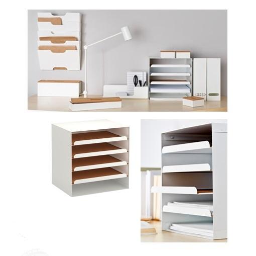 kvissle briefablage wei neu b ro ablage post dokumente fach ordnen wohnen co ebay. Black Bedroom Furniture Sets. Home Design Ideas